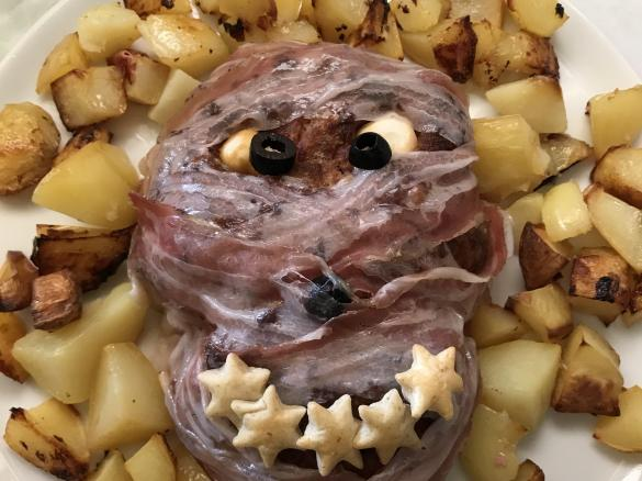 Secondi Piatti Di Carne Per Halloween.Polpettone Mostruoso Di Halloween