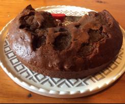 Torta al cacao con noci di marmellata