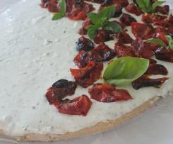 """Cheesecake salata al basilico e pomodorino confit """"contest torte senza cottura"""""""