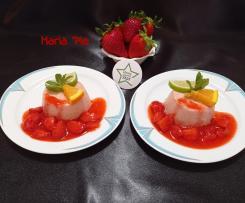 BUDINO DI FRAGOLE AL PROFUMO DI LIME E ARANCIA 🍊 ~~ contest 7 ingredienti ~~