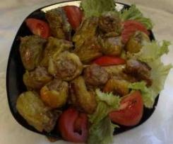 Mini peperoni ripieni di carne e formaggi