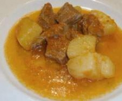 Guanciale in umido con patate