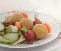 Spiedini di polpette alla ricotta e zucchine
