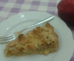 crostata di mele con le briciole