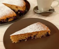 Torta integrale di mirtilli freschi (senza lattosio)