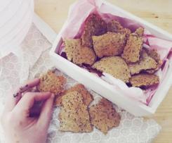 Crackers di soya, multicereali e mandorle (vegan, senza sale e glutenfree)