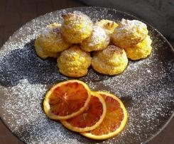 Frittelle con Cocco Zucca e Arancia al forno a modo mio
