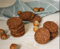 Biscotti cacao e nocciole - contest dolci senza burro e senza uova