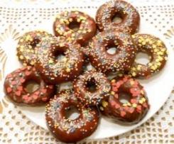 Donuts (senza uova) al profumo di limone e glassa al cioccolato