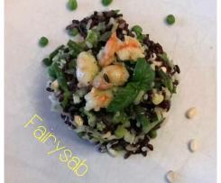 Riso Bianco & Nero fusion EurAsian Style -contest primo piatto e freddo di pesce
