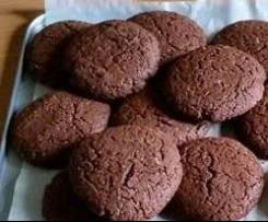 Cookies integrali al cacao