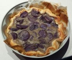 torta salata di patate e porri (vegana)
