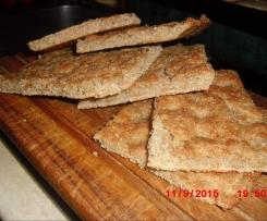 Focaccia integrale alle tre farine facile
