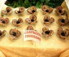 saltimbocca di  carpaccio Finger food