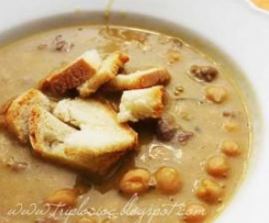 Zuppa di ceci e carne