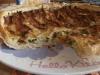 Torta salata con speck  , zucchine e scamorza affumicata.