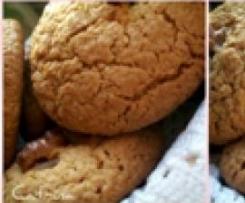 Biscotti con fiocchi d'avena e noci