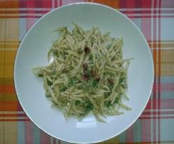 Pasta alla crema di pistacchi e asparagi