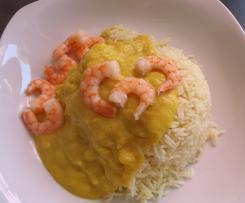 Riso al curry e mazzancolle