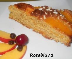 Torta con Farina Integrale  Yogurt e Pesche Sciroppate