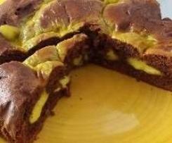 Torta al cacao con cuore di crema
