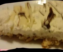 cheesecake con copertura ai due cioccolati