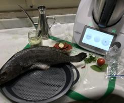 Ombrina al cartoccio cotta a varoma con contorno /Contest secondi di pesce