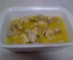 Bocconcini di pollo alla crema di peperoni