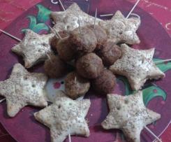 Stelline al salmone e polpettine di pesce spada all'arancia (Natale)
