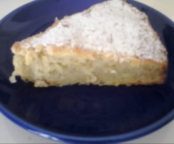 torta light alle mele e banana senza burro, uova e latte