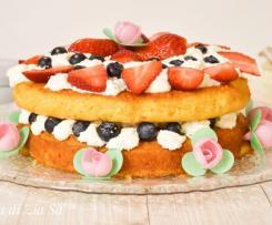 Sponge cake al cioccolato bianco