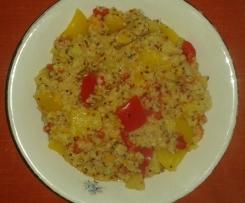 Bulgur e quinoa con verdure