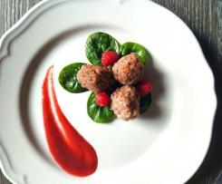 Polpettine di Polpo con Salsa in agrodolce ai Lamponi (contes ristorante )