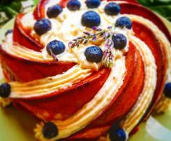 Ciambella glicine, pera e mirtilli-CONTEST FESTA DELLA MAMMA