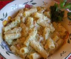 Rigatoni con zucchine e panna