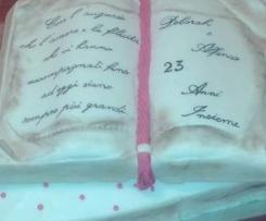 TORTA LIBRO per anniversario