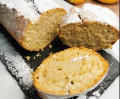 Torta soffice vegan al limone dolcificata con malto di riso
