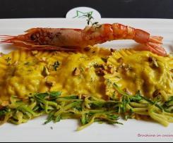 Ravioli di gamberoni e zucchine