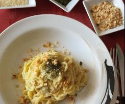Spaghetti alla crema di finocchi e nocciole