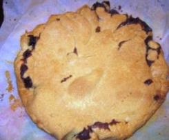 Crostata con crema al cioccolato senza lattosio