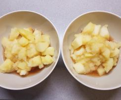 Variante di mele cotte al profumo di cannella e limone