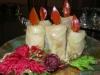 Candele natalizie (Centrotavola e antipasto di Natale)