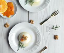 Panna cotta salata con ricotta miele e zeste di arance (contest ristorante)