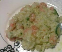 Risotto gamberetti e zucchine (o asparagi) veloce e buono