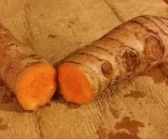 Tortino di porri e patate con curcuma fresca