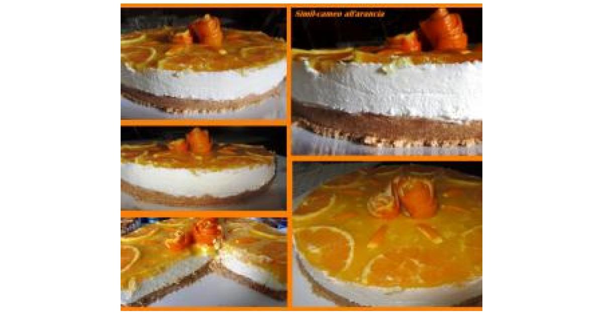 Cheesecake Allarancia Con Panna E Mascarpone è Un Ricetta Creata