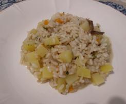 Risotto con patate e acciughe