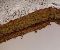 torta al grano saraceno con marmellata di fragole