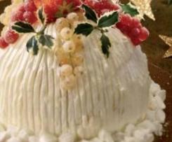 Zuccotto bianco di Natale