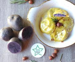 Ravioli con Patate Viola e Pecorino
